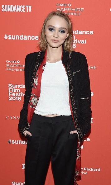 January 24: Lily-Rose Depp graced the red carpet during the premiere of her new film 'Yoga Hosers' at the Library Center Theatre at the Sundance Film Festival.