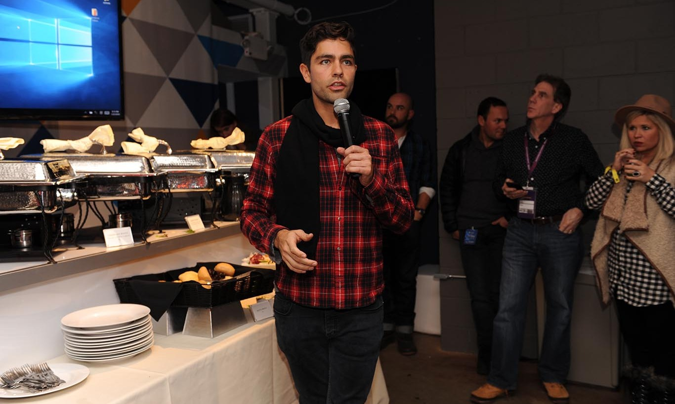 January 22: Tech cutie! Adrian Grenier, Dell and Adobe hosted a dinner for VIP Filmmakers at the Sundance Film Festival.
