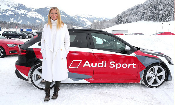 January 23: Full speed! Gwyneth Paltrow attended the Audi driving experience during the Audi Hahnenkamm race weekend in Austria. 