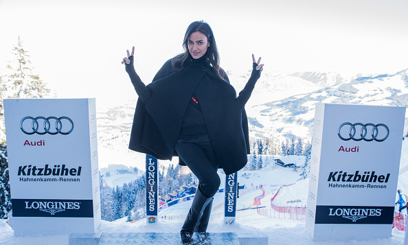 January 22: Start your engines!  Irina Shayk posed in the starting booth of the Hahnenkamm race at the Audi Hahnenkamm race weekend in Austria. 