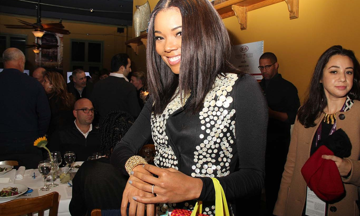 January 23: Super sweet bling! Gabrielle Union tried out a bracelet and snagged some goodies from Stella and Dot's spring collection inside the KIA Supper Suite at the Sundance Film Festival. 