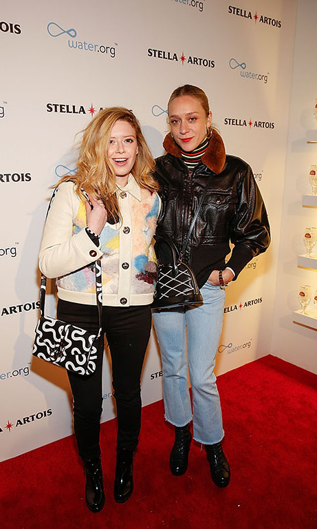 January 22: Actresses Natasha Lyonne and Chloe Sevigny attend the Stella Artois Kick-off Party in the Stella Artois Filmmaker Lounge during the 2016 Sundance Film Festival.