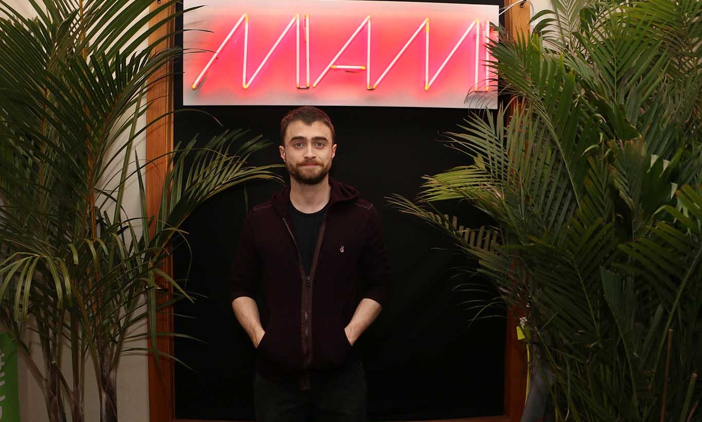 January 23: Daniel Radcliffe ​stopped by ​It's SO MIAMI Oasis​ at ​Barclaycard ​Presents 364 during Sundance Film Festival. 
