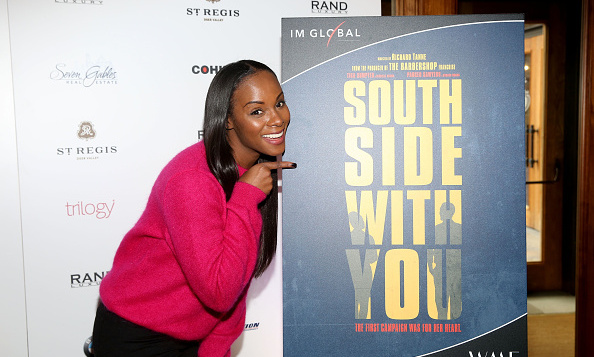 January 24: Actress Tika Sumpter (who plays Michelle Obama) attended the Rand Luxury Hosts 'Southside With You' at The Luxury Lounge at the St. Regis during Sundance Film Festival. 