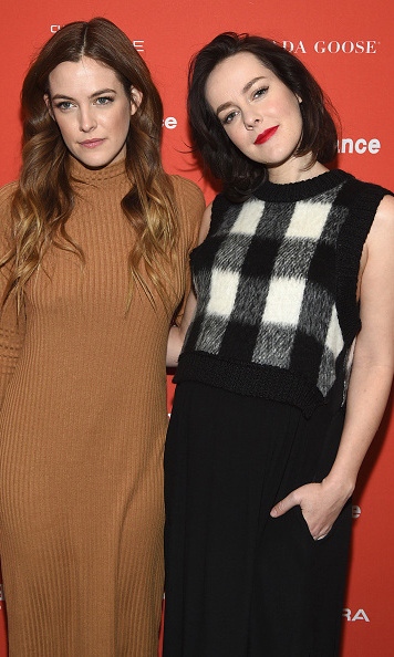 January 25: Mommy-to-be Jena Malone showed off her baby bump alongside Riley Keough at the premiere of 'Lovesong' during the Sundance Film Festival. 