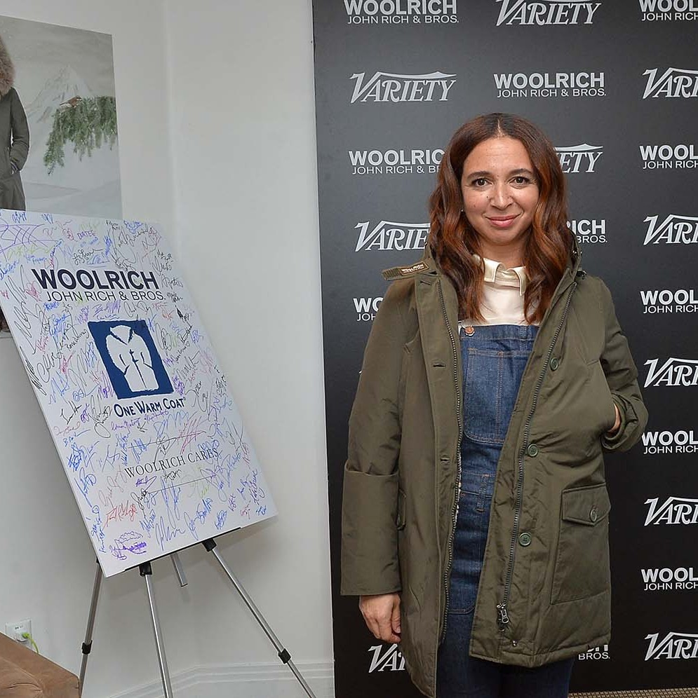 January 26: Maya Rudolph rocked her flea market overalls by Madewell at the Variety Fandango Studio during the Sundance Film Festival. 
