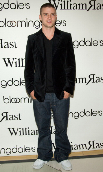 Justin showed off his clothing line William Rast at the Bloomingdales launch in NYC in November 2005.