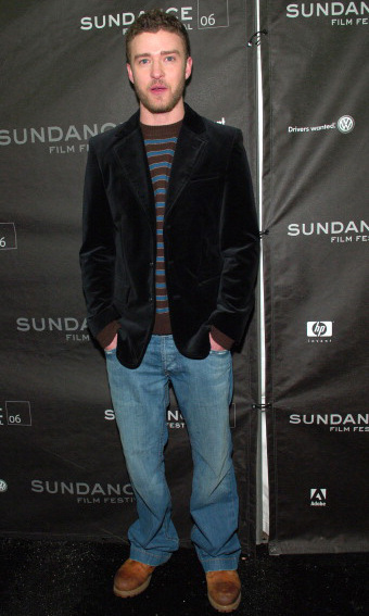 Justin's jeans got slightly slimmer during the Sundance Film Festival for his film 'Alpha Dog' in 2006.  