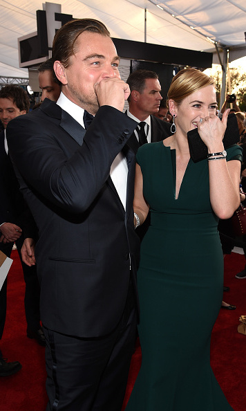 "Leo and Kate could not have been any cuter, while laughing together on the red carpet at the 2016 Screen Actors Guild Awards. The actress admitted to E! that when it comes to nominations, she's more focused on her former costar's than she is on her own. ""I've been so focused on Leo and him winning everything and being so excited for him,"" she said.