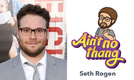 "We think it's a big ""thang"" to have your own personal avatar, right Seth Rogen?