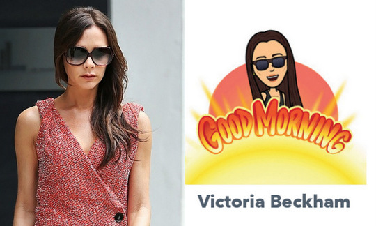 Safe to say Victoria Beckham's bitmoji is just as fabulous as the fashion designer herself.