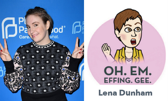 Oh Em Gee. Lena Dunham's avatar took a line out of 'Girls' character Shoshanna's vocabulary.
