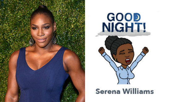 Serena William's bitmoji proves that even Wimbledon-winning tennis players require a good night's sleep.