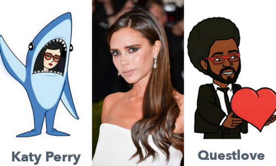 Referencing pop culture while chatting with emojis just got a whole lot easier thanks to Bitmoji! The popular application that allows you to make personalized emojis, features several of your favorite stars. From fashion designer Victoria Beckham to VH1's three time male model of the year, Derek Zoolander, see which celebrities already have doppelgänger avatars for you to message with!
