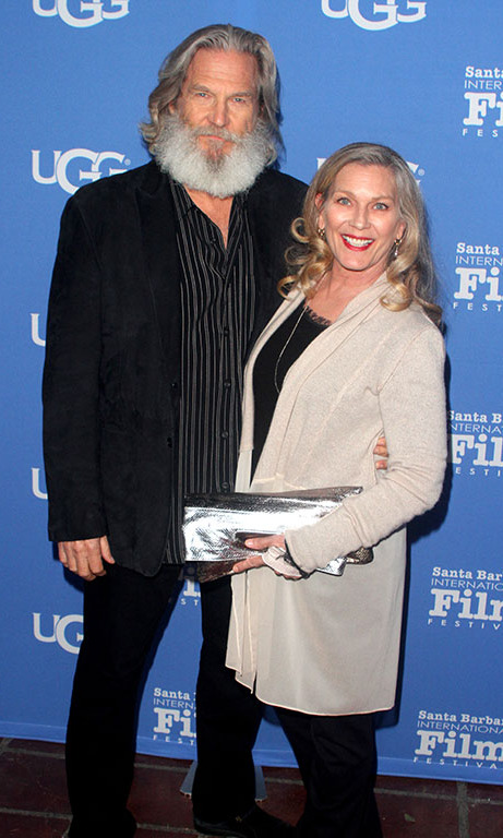 February 3: Jeff Bridges and Susan Geston attend the opening night presentation of 'The Little Prince' during the Santa Barbara International Film Festival. 