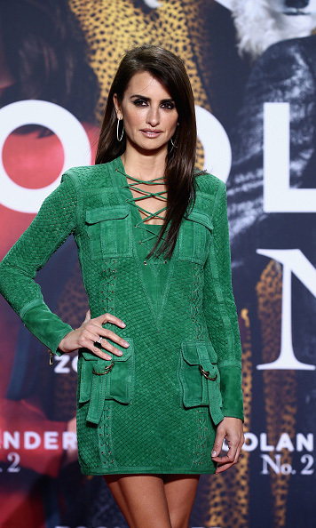 February 2: Green with style! Penelope Cruz rocked the red carpet in a green mini dress at the 'Zoolander 2' fan screening in Berlin. 