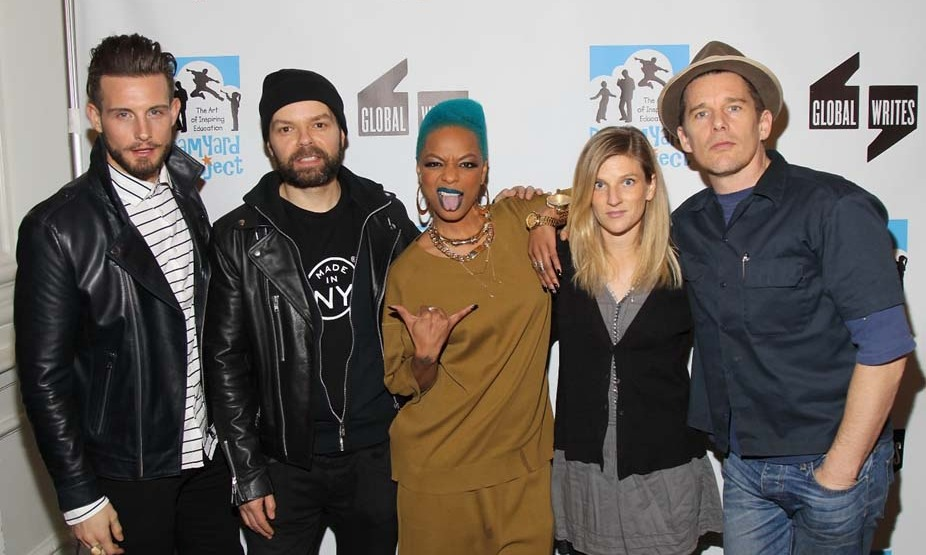 February 2: Poetry slam! Ethan Hawke, Ryan Hawke and 'Younger's' Nico Tortorella judged the Dreamyard Project's Bronx-wide poetry slam in NYC. 