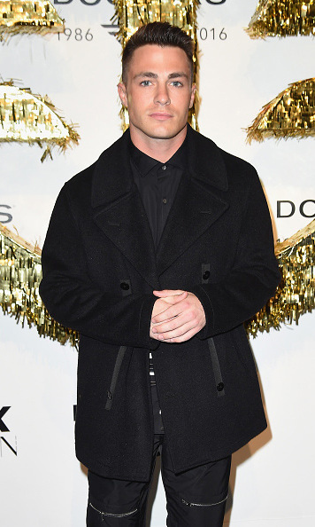February 1: Colton Haynes turned up the handsome during the Dockers x CFDA NYFWM opening Party in NYC. 