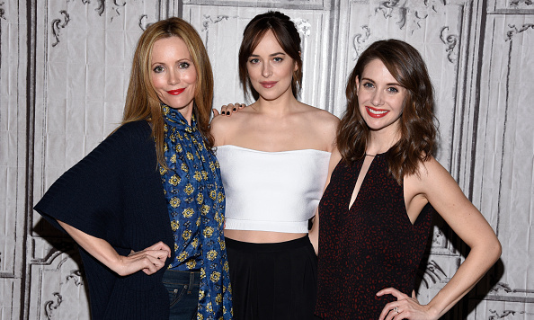 February 4: All the single ladies! 'How to be Single's' Leslie Mann, Dakota Johnson and Allison Brie brought the laughs during the AOL Build speaker series in NYC.