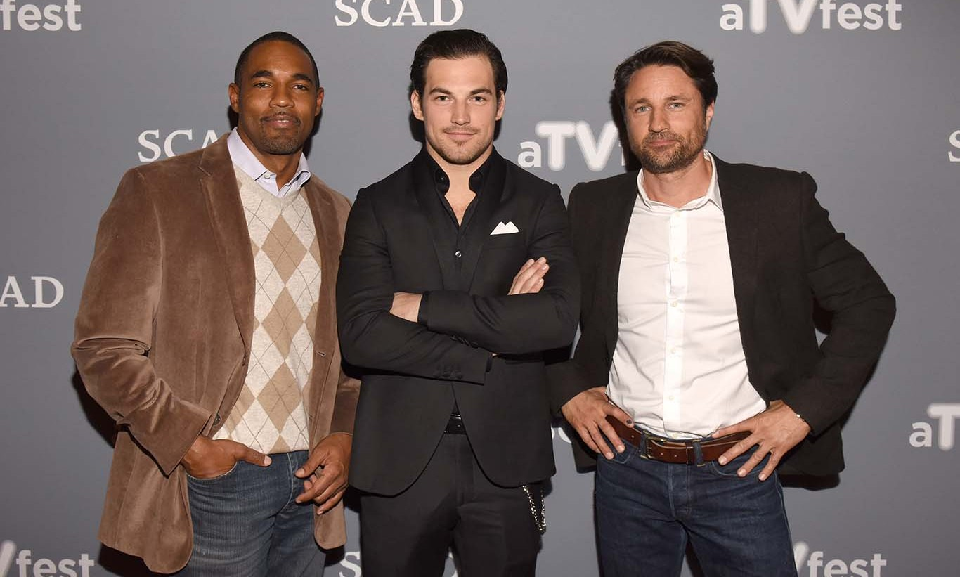 February 4: Is there a doctor in the house? The men of ABC's 'Grey's Anatomy,' Giacomo Gianniotti, Jason George and Martin Henderson attended the SCAD 4th annual aTVfest in Atlanta, Georgia. 