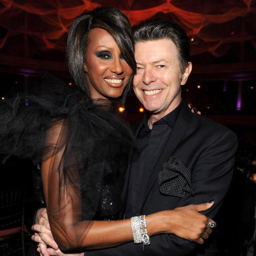 <b>David Bowie and Iman</b>