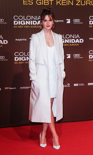 February 5: Emma Watson was a vision in white at the 'Colonia' premiere in Berlin, Germany.