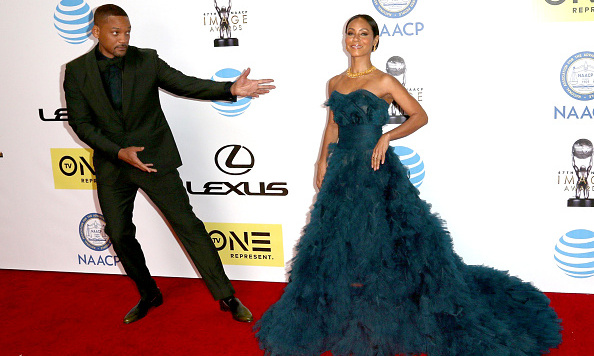 February 5: Ladies first! Will Smith ceded the spotlight to his wife Jada Pinkett Smith at the NAACP Image Awards. 