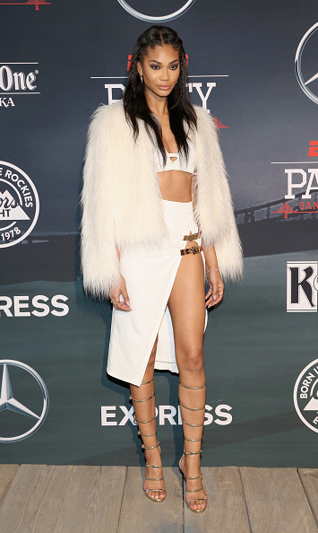 Supermodel Chanel Iman showed off a sexy look at the ESPN bash.