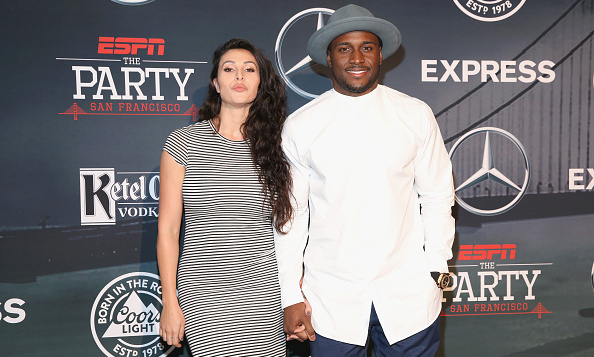 NFL player Reggie Bush and Lilit Avagyan arrived hand-in-hand.