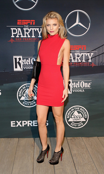 Lady in red AnnaLynne McCord at the ESPN soirée.