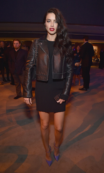 Supermodel Adriana Lima at the Vanity Fair party.