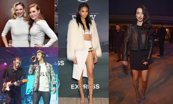 As the Denver Broncos and Carolina Panthers prepared to go head-to-head in the Super Bowl, supermodels and superstars flocked to the pre-game party circuit.