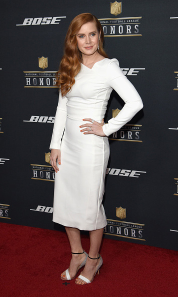 February 6: Amy Adams rocked winter white during the 5th annual NFL Honors in San Fransisco, California. 