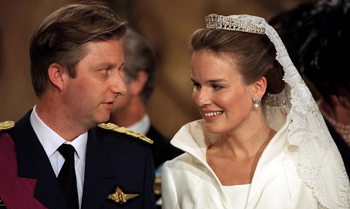 <B>KING PHILIPPE AND QUEEN MATHILDE OF BELGIUM </B>