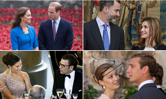 Every day is Valentine's Day for some of our favorite royal couples! Click through for our gallery of princes and princesses, kings and queens, sneaking adorable looks of love.