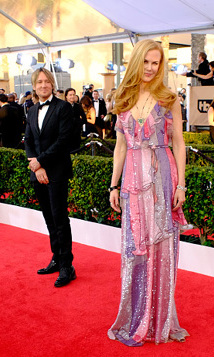 We don't blame Keith Urban for keeping his eyes on the gorgeous Nicole Kidman at the Screen Actors Guild awards earlier this year. 