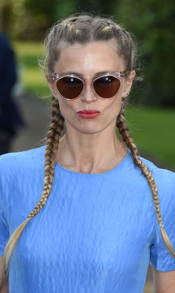 Laura Bailey proved braids are in vogue while attending the  Vogue and Ralph Lauren Wimbledon party in 2015.
