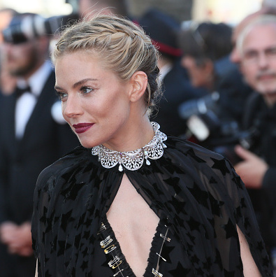 Short hair didn't hinder Sienna Miller from rocking French braids at the Cannes Film Festival in 2015.