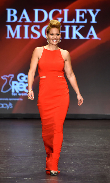 February 11: Smoking hot! 'Fuller House' star Candace Cameron-Bure looked dazzling in Badgley Mischka as she strutted down the runway for the 2016 Go Red for Women Dress Collection presented by Macy's in NYC. 