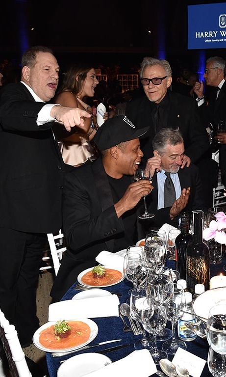 February 10: A toast! Jay Z hammed it up with Robert De Niro at the amfAR Gala with Moet & Chandon at Cipriani Wall Street in NYC. 