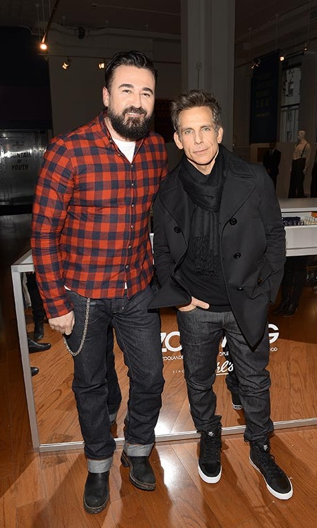 February 9: Looking good! Kiehl's US President Chris Salgardo and Ben Stiller attened the Derek Zoolander Center for People Who Don't Age Good (DZCFPWDAG) exhibit in NYC. 