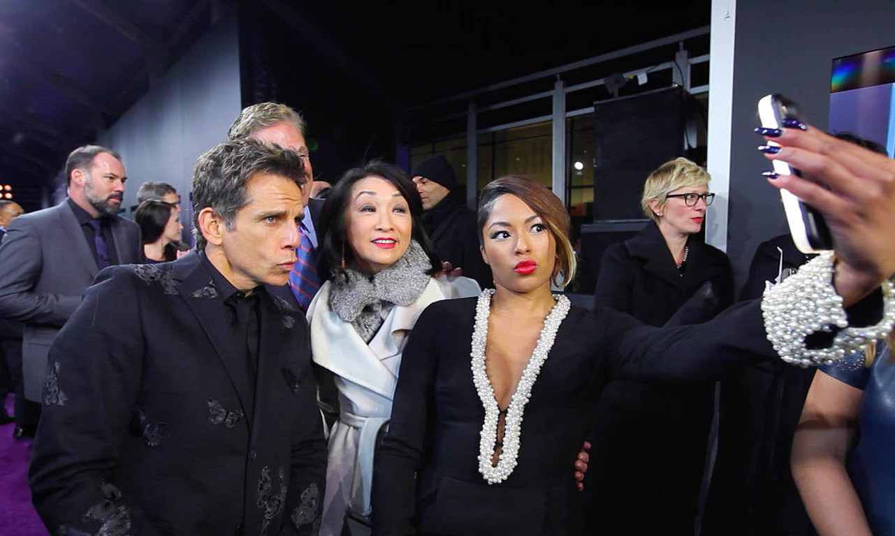 February 9: Ridiculously good looking selfie! Ben Stiller, Connie Chung and Alicia Quarles showed off their best blue steel with the help of the Ty-Lite Cell Phone Case, available exclusively on StarShop during the 'Zoolander 2' premiere in NYC. 