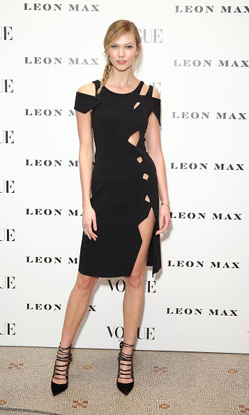 February 9: Taking a break from school and getting back to work on the red carpet, Karlie Kloss rocked a LBD at the Vogue 100: A Century Of Style at the National Portrait Gallery in London. 
