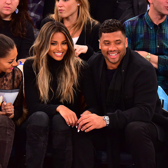 February 9: Court side date night! Ciara and Russell Wilson enjoyed the Knicks game at Madison Square Garden in NYC.