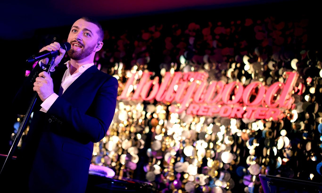 February 8: Sam Smith entertained the crowd at The Hollywood Reporter's Nominees Night at Spago in Beverly Hills. 