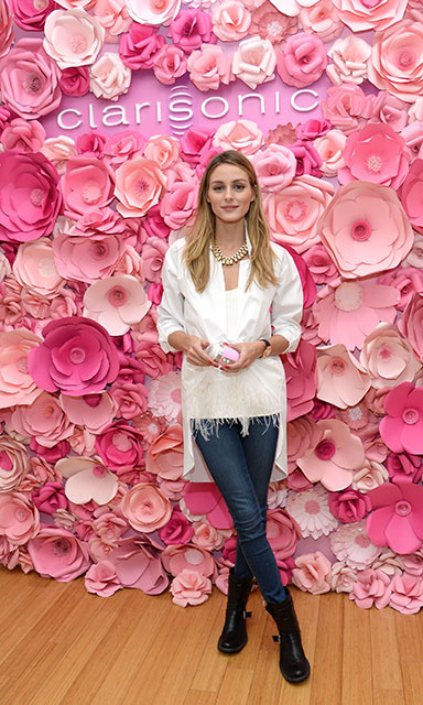 February 8:  Olivia Palermo stopped by Clarisonic's Mia FIT Sonic Cleansing Lounge to celebrate the launch of the brand's newest device in NYC. 