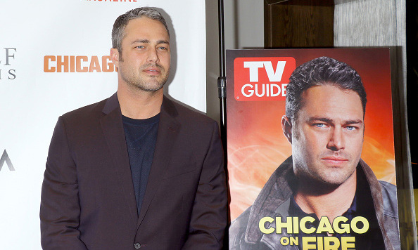 February 8: Taylor Kinney heated up TV Guide's celebration of 'Chicago Fire' and Dick Wolf sponsored by Svedka at LeGrande in NYC. 