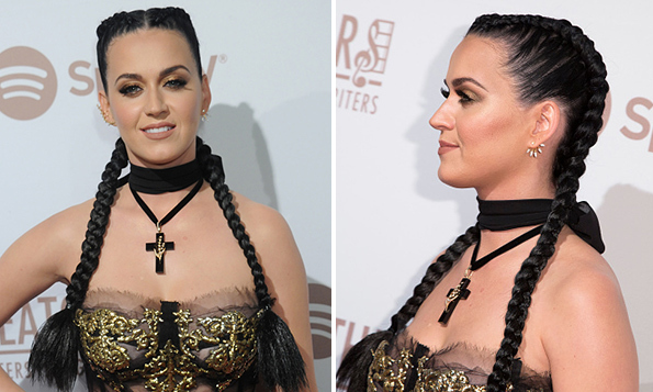 At the Creators Party Presented by Spotify in Los Angeles, Katy Perry stole attention for two things: 1) stepping out with new love interest Orlando Bloom, and 2) signing up for the braids trend with ultra-long extensions.