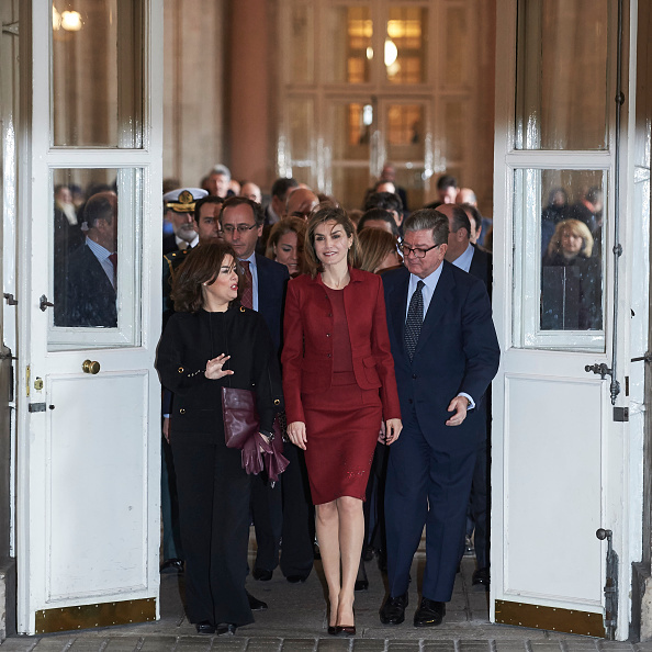 Queen Letizia of Spain led the way at the Royal Palace in Madrid.