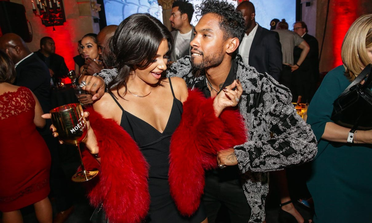 Miguel and his fiance Nanzanin Mandi enjoyed goblets of Moët & Chandon Nectar Imperial Rosé while on the dance floor at the Roosevelt Hotel in L.A. 